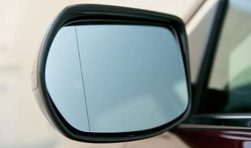 clear side mirror